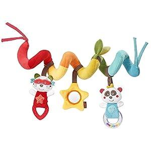 Fehn Activity-Spirale - Espiral de tela para agarrar y sentirse para cama, cochecito, parque infantil ajustable - para bebés y niños pequeños a partir de 0 meses - Medidas: 30 cm de largo multicolor Jungle Heros