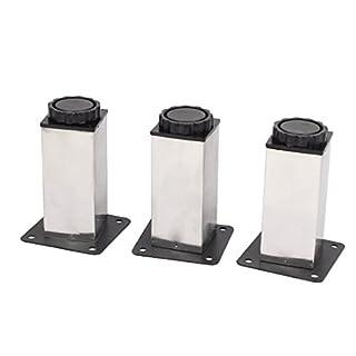 Aexit 3stk Schreibtischzubehör & Ablage 100mm Höhe verstellbar Schrank Sofa Tisch Bein Füße Runde Zettelclips Ständer de