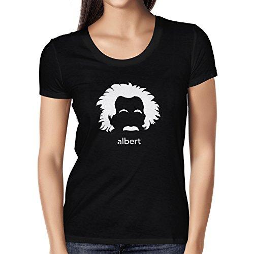 NERDO - Albert - Damen T-Shirt Schwarz