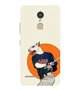 HiFi Designer Phone Back Case Cover Lenovo K6 Power - 2016 ( Dog Man Baseball Player )