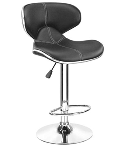 Mbtc Horse Bar stool Cafeteria Chair in Black
