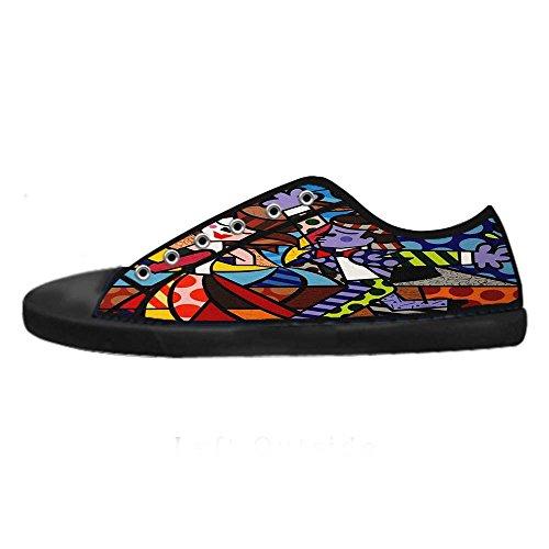 Dalliy Romero Britto Men's Canvas shoes Schuhe Lace-up High-top Sneakers Segeltuchschuhe Leinwand-Schuh-Turnschuhe B