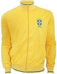 Brasil CBF - Sudadera oficial de la selección de Brasil de Fútbol con escudo en el pecho - Premier League/Fútbol