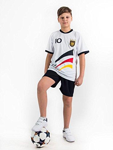 Fußball Trikotset Trikot Kinder 4 Sterne Deutschland WUNSCHNAME Nummer Geschenk Größe 98-170 T-Shirt Weltmeister 2014 Fanartikel EM 2016 (128)