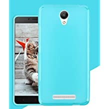 Prevoa ® 丨 Xiaomi Redmi Note 2 2 + Funda - Transparent Silicona TPU Funda Cover Case para Xiaomi Redmi Note 2 2 + 5.5 Pulgadas Smartphone - Azul