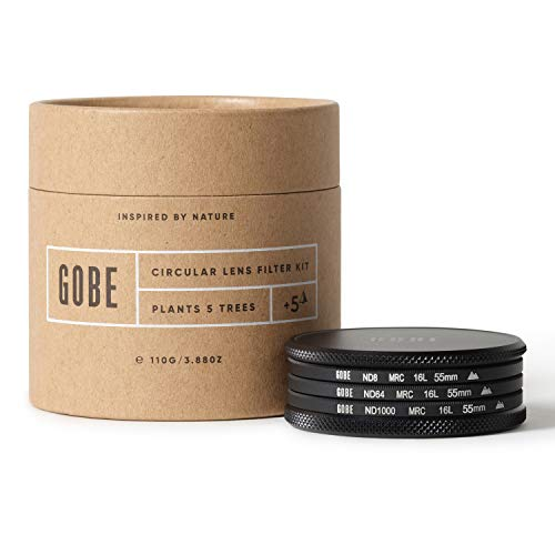 Gobe 55 mm Graufilter ND8, ND64, ND1000 - ND Filter Kit(2Peak)