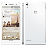Huawei Ascend P6 - Android Smartphone Movistar Libero,(schermo da 4,7 pollici, fotocamera da 8 MP, 8 GB, 1,5 GHz, 1GB di RAM), Bianco