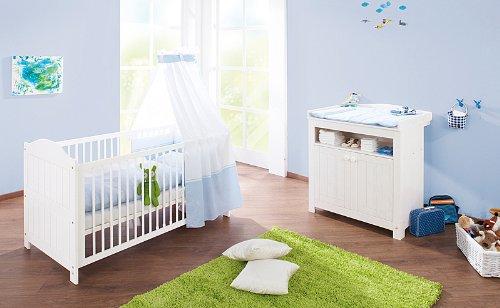 Preisvergleich Produktbild Pinolino Babybett Sparset Nina 2-teilig (Liegefläche (B x L): 70 x 140 cm)