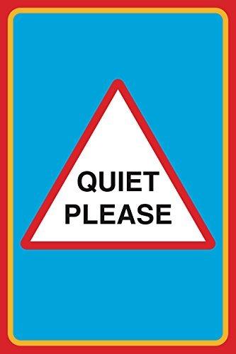 Leise Bitte drucken Sie Bild Pinnwand Schule Büro Business Schild