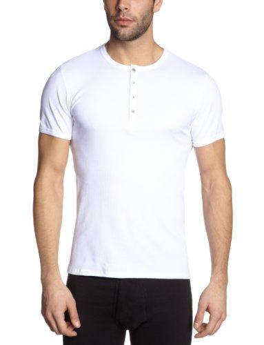 98487cf1ffa6d0 Schiesser Herren Unterhemd T-shirt mit Knopfleiste Naturbursche 123627 Weiß  (100-weiss)