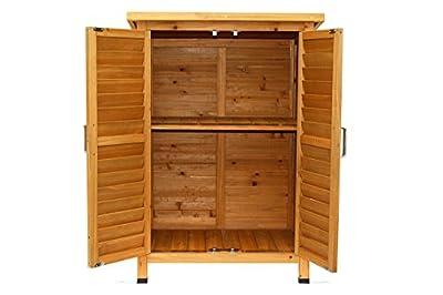 MCombo Gartenschrank Gerätehaus Geräteschuppen Garten Schuppen Schrank Holz von MCombo auf Du und dein Garten