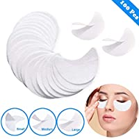 Eyeshadow Stencils - Eyelash Extensions Eye Makeup Template Stickers Kits Professional Disposable Eye Shadow Shields Fast Eyeliner Guide Lint Free Non-Woven Lip(100pcs-L)
