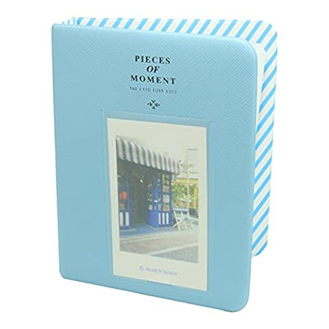 [Fujifilm Instax Mini Photo Album]- CAIUL Pieces Of Moment Mini Book Album For Films of Instax Mini 70 7s 8 8+ 9 25 26 50s 90 / Pringo 231/ Instax SP-1 / Polaroid PIC-300P Z2300 (64 Photos) - Blue