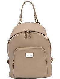 9e1aaa8ea1e David Jones - Bolso Mochila Mujer - Backpack Daypack Cuero Genuino - Morral  Multiusos - Bolsos