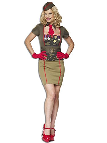 Sofias Closet Damen Army Military Retro Babe Fancy Kleid Kostüm Outfit Pin Up