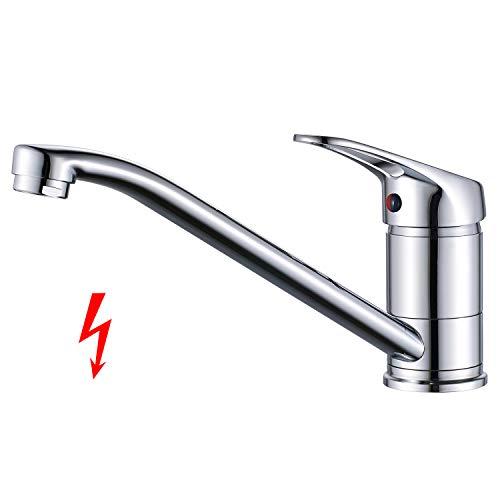 Küchenarmatur Niederdruck Armatur Küche Wasserhahn, BONADE Spültischarmatur Küchenspüle Mischbatterie 360° schwenkbarer Einhebelmischer Spültischbatterie für drucklose Boiler