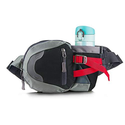 MUTANG Hüfttasche Hüfttasche Sport Running Bum Bag Leichte Gürteltasche mit Flasche (Nicht Enthalten) Halter Multi-Color Optional