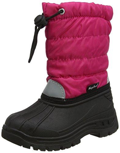 Playshoes gefütterte Kinder Winterstiefel, warme Schneestiefel mit Innenfutter , Pink (18 pink) , 32/33 (Stiefel Winter Rosa)