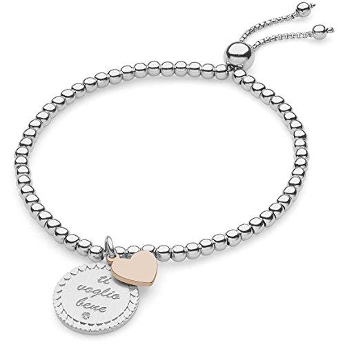 Bracciale donna gioielli comete love tag elegante cod. bra 148