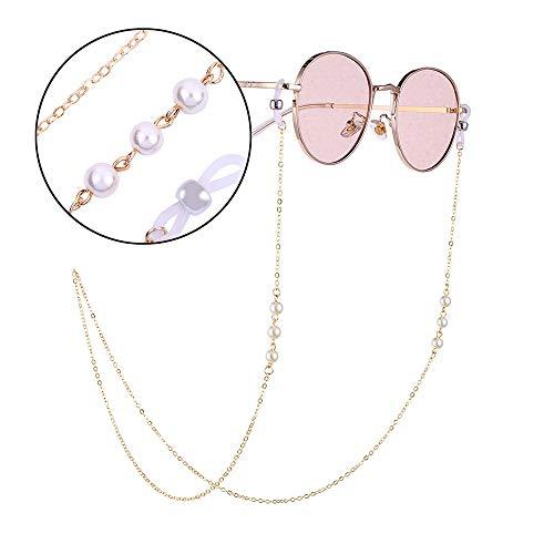 Trisee ✔ Sonnenbrille, Unisex Sonnenbrille Mode Sonnenbrille Vintage Brillengläser Gurt Sonnenbrille mit Kette Perlen Schnur Hängende Gläser Ultra Light UV-Schutz Brillen
