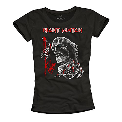 T Shirt Iron Maiden - Magliette Donna Game of Thrones Nera L