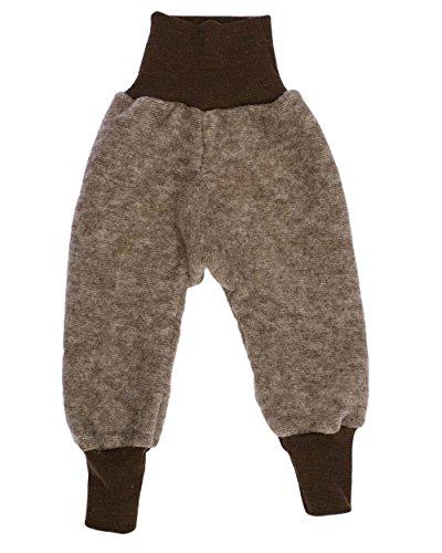 Cosilana Baby Hose mit Bund aus weichem Wollfleece, 60% Schurwolle kbT, 40% Baumwolle (KBA) (62/68, Braun-Melange) Baby-hose Natur