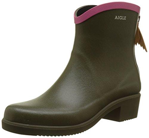 Aigle Women's Miss Juliette Bottillon Ankle Boots, Green (KakiMalaga 001), 2.5 UK
