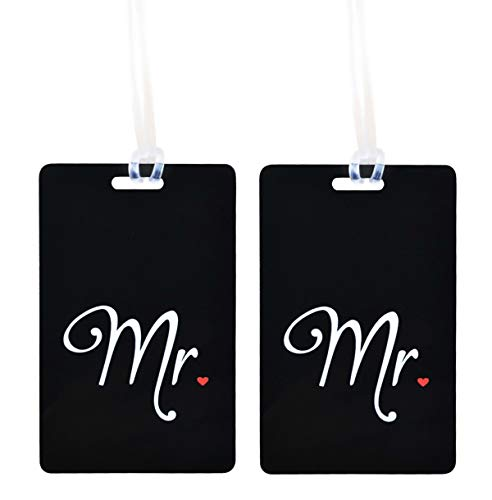 Etichetta per Valigia Mr&Mrs Etichetta per Bagagli Honeymoon Cartellino Bagaglio Targhetta con Nome e Indirizzo Decorazione di Nozze Regalo della