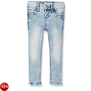 NAME IT Nittime Xxslim/xxslim Dnm Pant Nmt Noos, Jeans Bambina, Blu (Light Blue Denim), 116