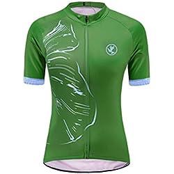 Uglyfrog Женская футболка с коротким рукавом для велоспорта Летняя одежда Дышащий триатлон ESHSJW10