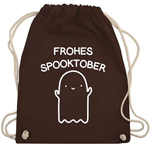 Halloween - Frohes Spooktober Halloween - Unisize - Braun - WM110 - Turnbeutel & Gym Bag