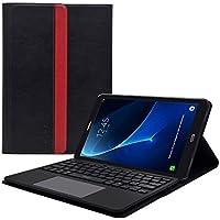 """Samsung Galaxy Tab A 10.1"""" pouces 2016 (T580N / T585N) Housse de protection étui coque smart book case + Clavier enlevable AZERTY + Stand de positionnement support + Touchpad Multitouch intégrés (Non pour le modèle avec S-Pen ) LEICKE"""