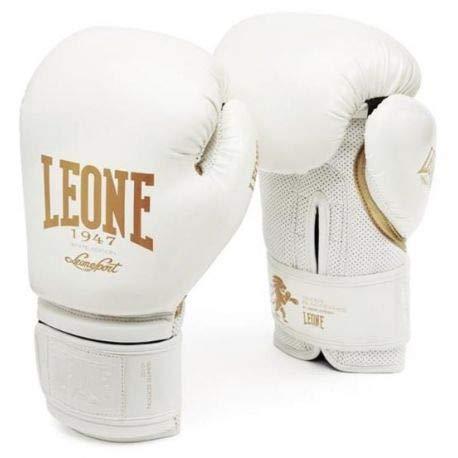 Leone 1947 GN059 Guantes de Boxeo, Unisex - Adulto, Blanco, 14OZ