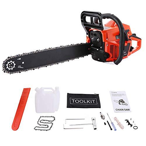 Kettensäge 62 cm³, 4.0 PS, Sägeblatt 51 cm, 1 Ketten und Tasche, inkl. Tool Kit mit Montagewerkzeug (62 cc)