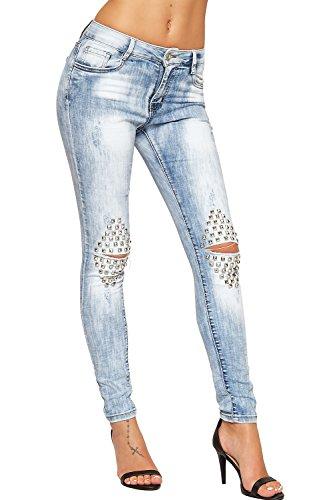 wearall-femmes-afflige-cloute-maigre-jeans-dames-ripped-genou-eau-de-javel-laver-toile-de-jean-bleu-