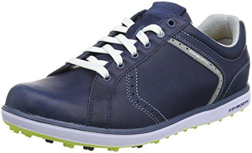 ADIVI|#Adidas Herren Cardiff 2 ADC Golfschuhe, Blau (Dark Denim/White/Vibrant Green), 45 1/3 EU