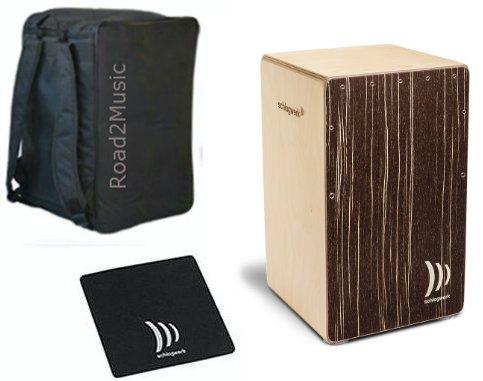 Schlagwerk Cajon CP 585 Super Agile Cappuccino inkl. Road2Music Rucksack & Sitzpad CP485