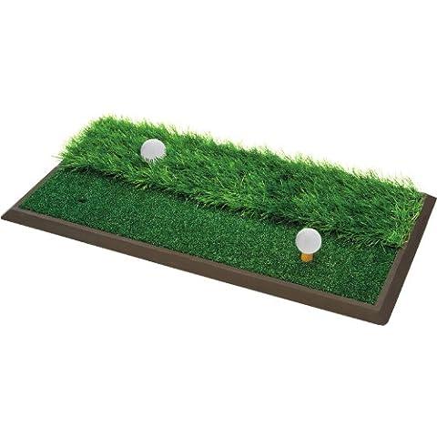 Longridge Colin Montgomerie - Alfombra de práctica dual de golf
