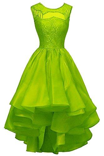 Olidress Women's Scoop Cocktail Dress Party Dress Lime Green US26 (Lime-grün-cocktail-kleid)