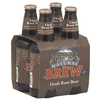 Natural Brew Soda, Draft Root Beer, 12 Oz, 4 Count Per Case (Pack of 6)