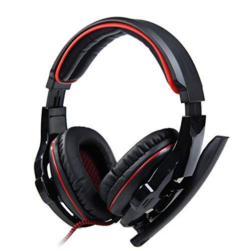 Kopfhörer Headset Spiel 7.1 Soundkarte Computer Headset mit Mail(rot)