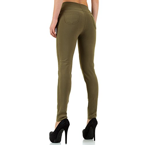 High Waist Treggings Skinny Hose Für Damen bei Ital-Design Khaki