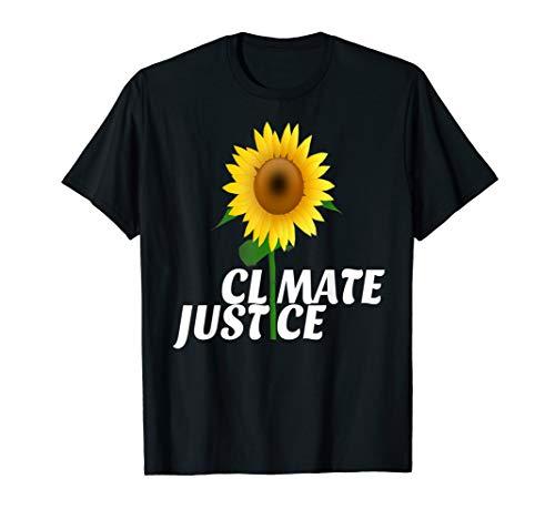 Climate Justice Sunflower against Climate Change Activist T-Shirt