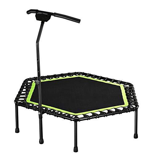 GCCLCF Kinetic Sports Fitness Trampolin Indoor Haustrampolin, faltbares Bungee, geeignet für das Fitnessgewicht der Erwachsenen Kinder 150KG,Green