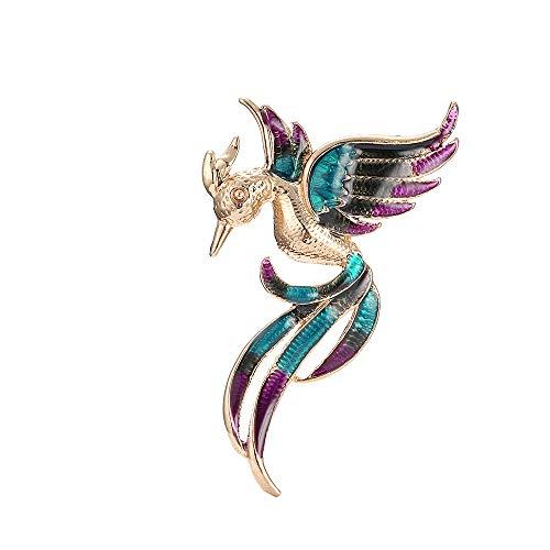Pins Kostüm Schmuck Vintage - Ningz0l Brosche Europäischen Und Amerikanischen Legierungen Vintage Diamanten Phoenix Vögel Exquisite Pins Jacken Bekleidungszubehör 8 cm * 4,5 cm