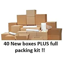 40 Box house moving pack for removals and storage, all you need for your move !