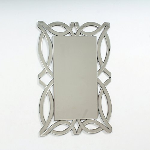 "Quality Glass Glass And MDF Decorative Wall Mirror (20""x30"", Silver, Asymmetric Shape)"