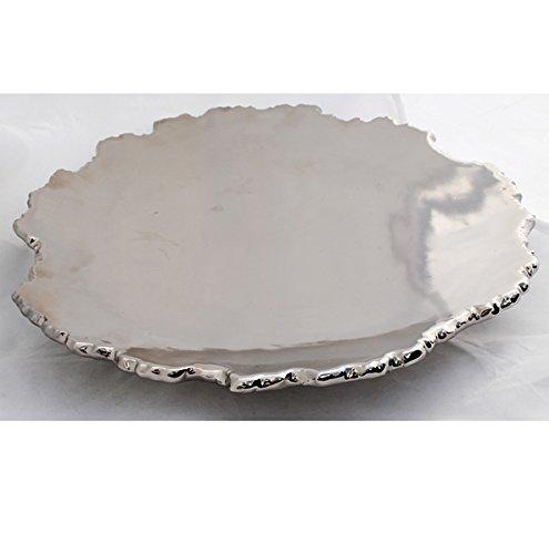 Schwere Deko Schale Platte Dekoschale Ø 36 cm Obstschale Silber STEINHOFF Qualität