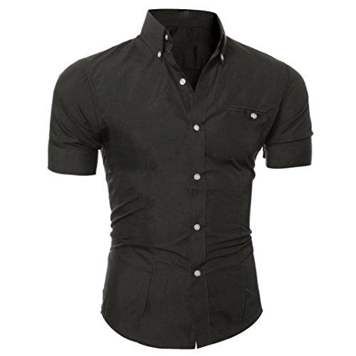 Camicetta da uomo, t-shirt - feixiang  uomo elegante slim fit teeshirt camicia polo tee camicie maglia a manica corta maglione felpe hoodie tops pullover (nero b, eu xl)