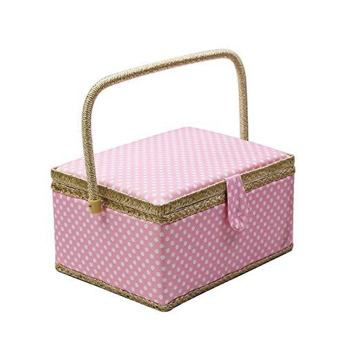 Caja de costura con accesorios para kit de costura